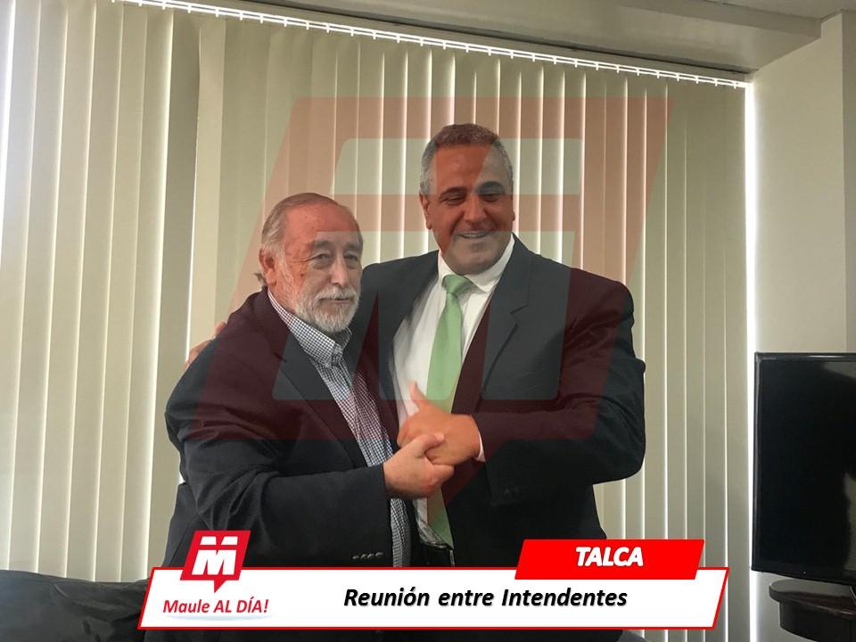 TALCA; Se reúnen actual intendente Pablo Meza y su sucesor Pablo Milad