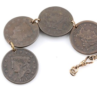 Large cent watch fob