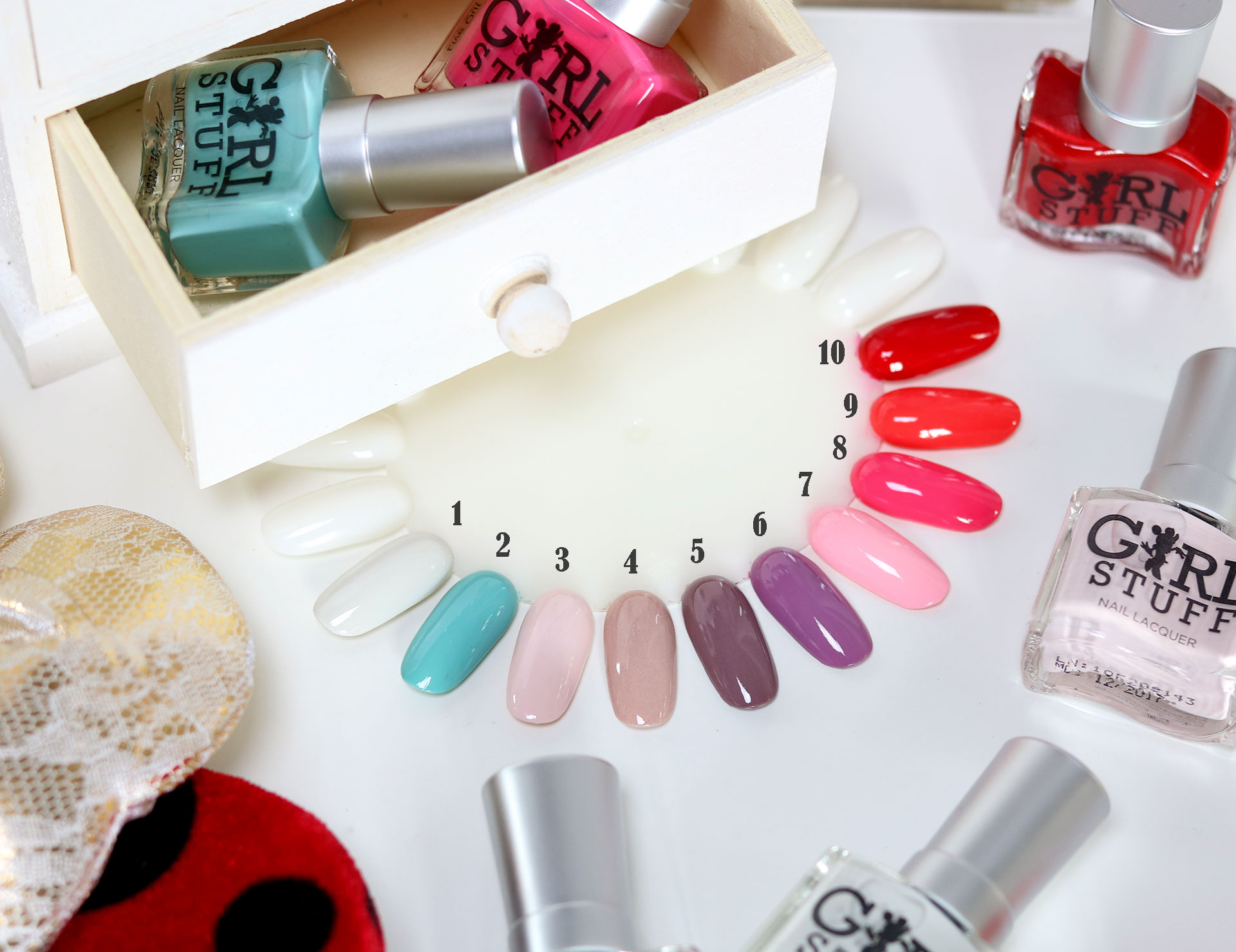 3 Girlstuff Minnie Mouse Nail Lacquers Collection Review Swatches Photos - Gen-zel She Sings Beauty