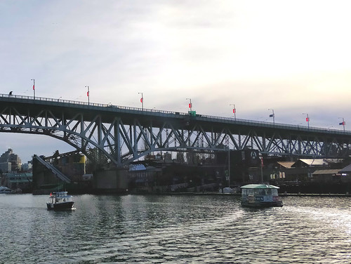 Rival ferries on False Creek