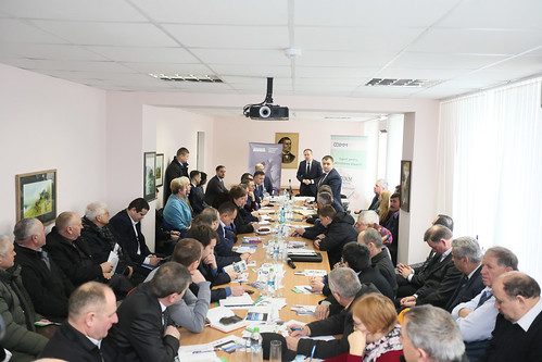 12.02.2018 Antreprenorii din cadrul Incubatorul de Afaceri Nisporeni în discuție cu președintele Parlamentului Andrian Candu