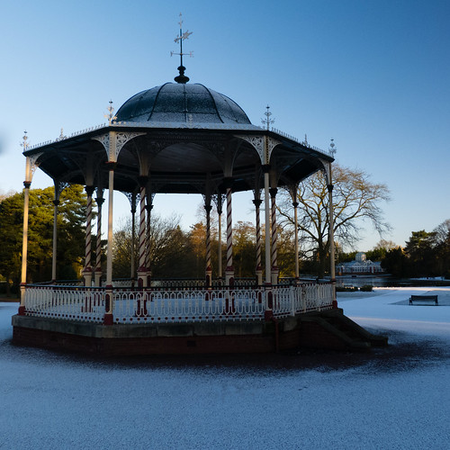 Bandstand, West Park, snowy morning