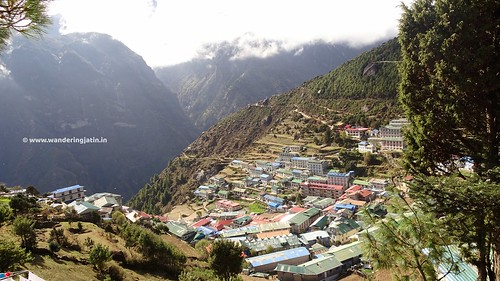 Bird's eye view of Namche town