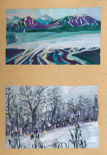 Sketchbook #111: Gouache Landscapes