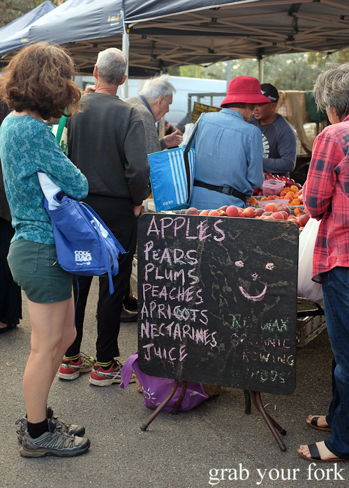 The Apple Shed stall at Southside Farmers Market in Canberra