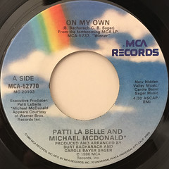 PATTI LA BELLE AND MICHAEL MCDONALD:ON MY OWN(LABEL SIDE-A)