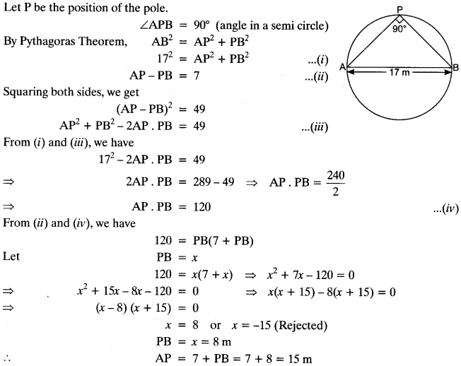 Quadratic Equations Chapter Wise Important Questions Class 10 Mathematics 25