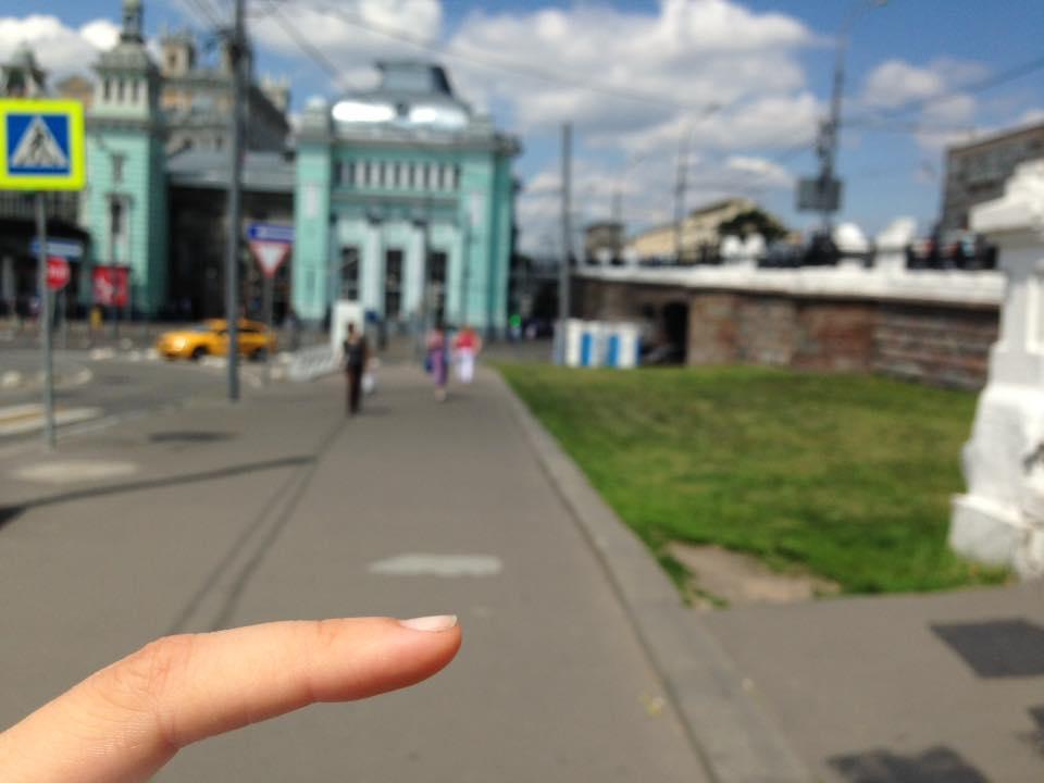 Выходим из метро Белорусская (зеленая ветка)