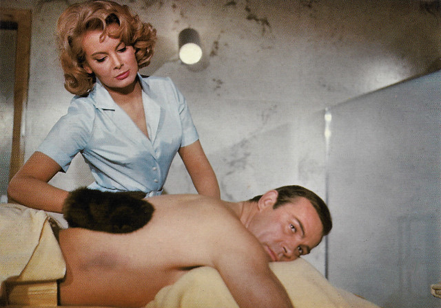 Sean Connery and Molly Peters in Thunderball (1965)