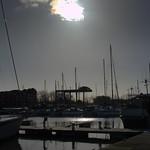 Sun over Preston Docks