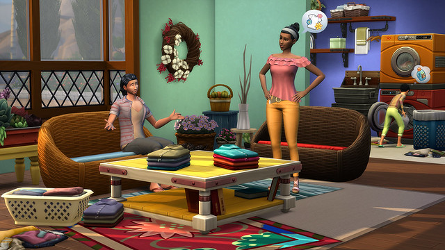 Recursos do The Sims 4 Dia de Lavar as Roupas