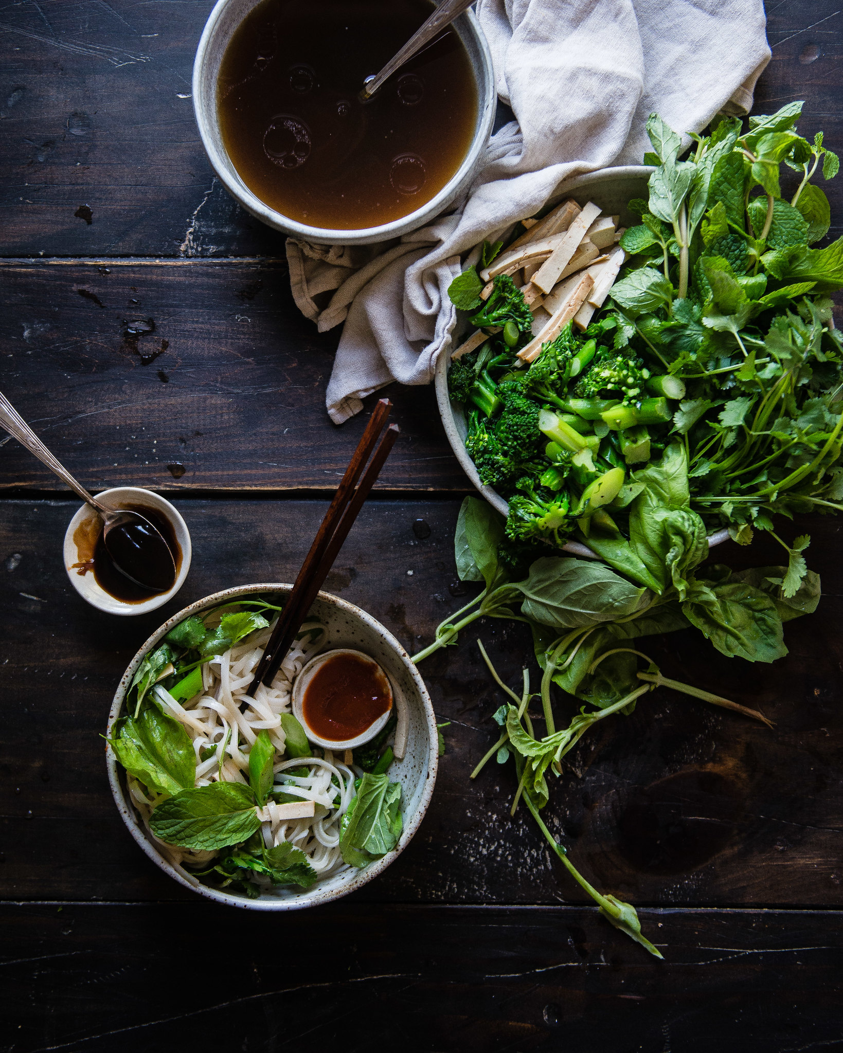 pho noodle salad - Two Red Bowls