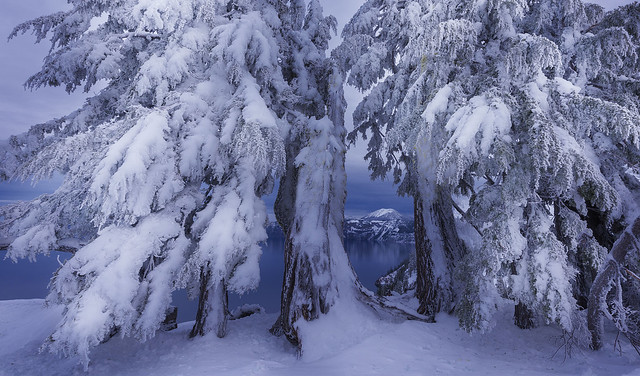 Crater Lake in Winter ( Crater Lake NP, Oregon)