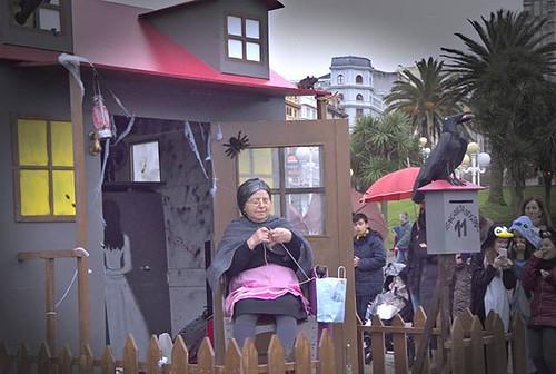 Estampas del entroido. Carroza en el desfile de Coruña. #entroido #Coruña #carnaval #olympus #darktable #photography
