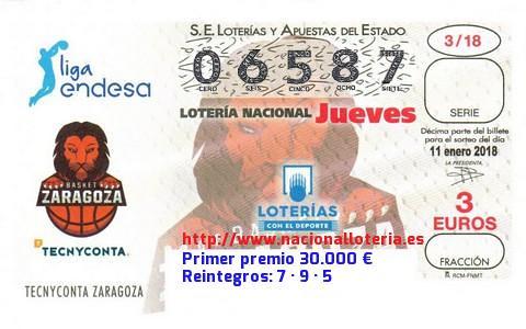 Primer premio de la Lotería Nacional 11 de enero