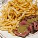 Steak frites (rare)