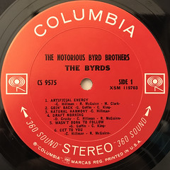 THE BYRDS:THE NOTORIOUS BYRD BROTHERS(LABEL SIDE-A)