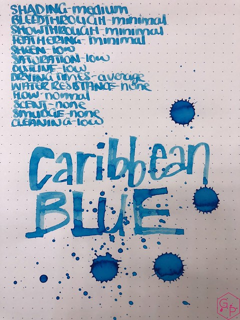 Ink Shot Review Monteverde Caribbean Blue @MonteverdePens @KnightsWritingC 9