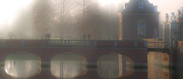 Misty winter day in Nordkirchen