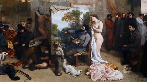 Courbet,_The_Studio,_center_detail