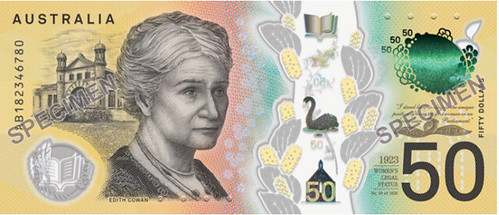 Australia $50 banknote back