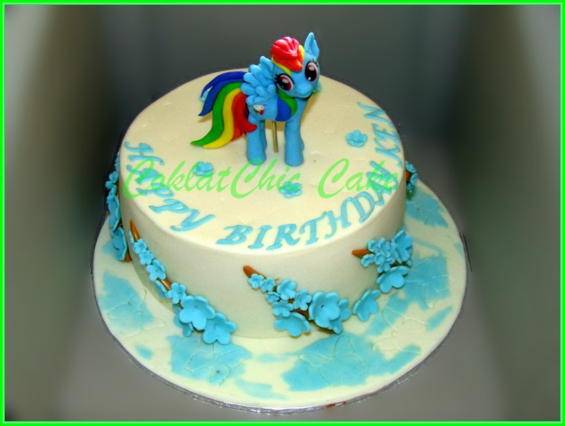 Cake My Little Pony Rainbow Dash KEN  20 cm