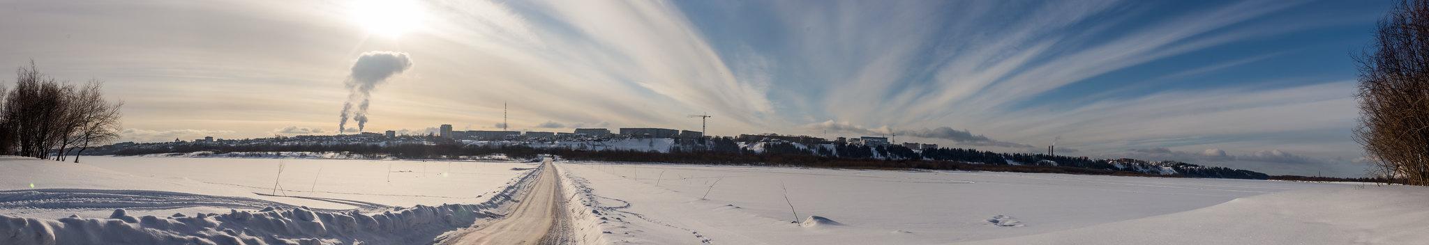Панорама Сыктывкара из Трёхозёрки