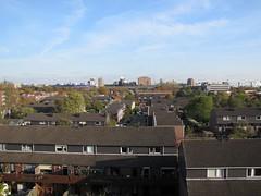 Uitzicht vanaf Nieuwe Voorstad in de richting van Nijmegen Centraal station.