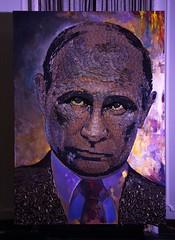 Putin portrain in bullets
