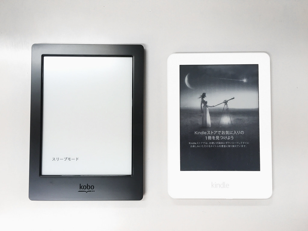 Kobo Aura H2O and Kindle