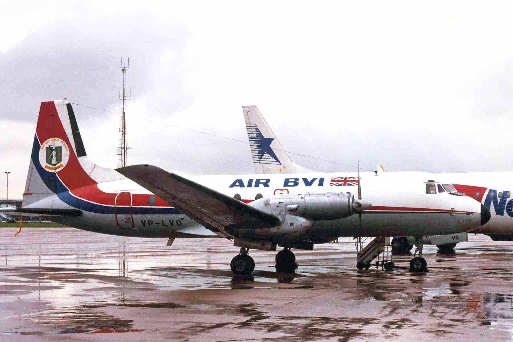 Air BVI Hawker Siddeley HS 748 with registration VP-LVO.