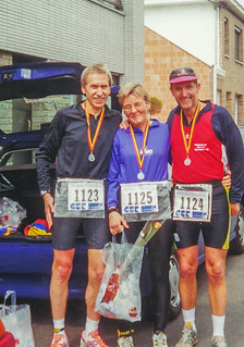 Karlheiinz, Gisela, Josef nach dem Maas-Marathon