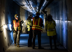 Verifying completed work in the SR 99 tunnel