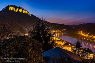 Blick auf Königstein und die Festung