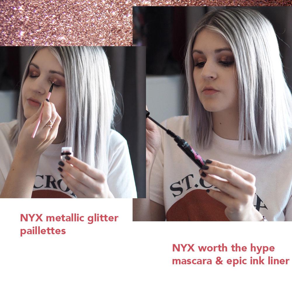 glitter pot mascara nyx