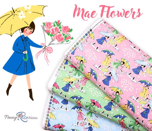 Penny Rose Fabrics Mae Flowers