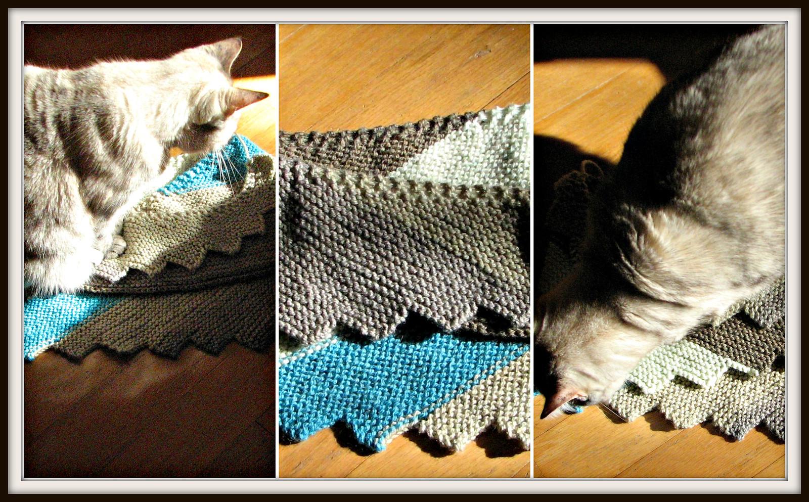 Mina, Oliver and Knitting