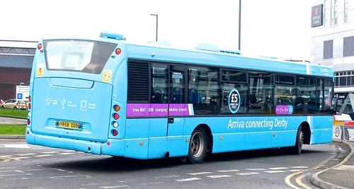 YR58 SSO 'ARRIVA Midlands' No. 3560, 'light blue livery'. Scania CN230UB OmniCity /3 on 'Dennis Basford's railsroadsrunways.blogspot.co.uk'