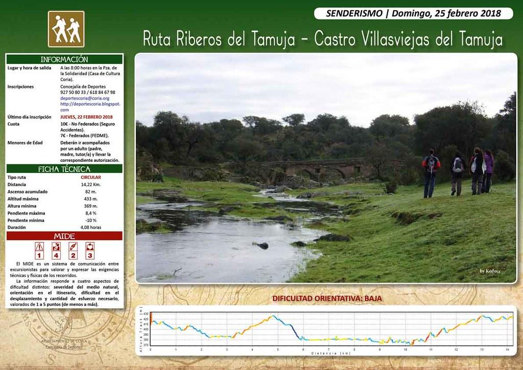 "Ruta de senderismo ""Riberos del Tamuja-Castro Villasviejas"""