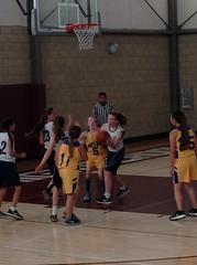 Girls Basketball Last game of season.
