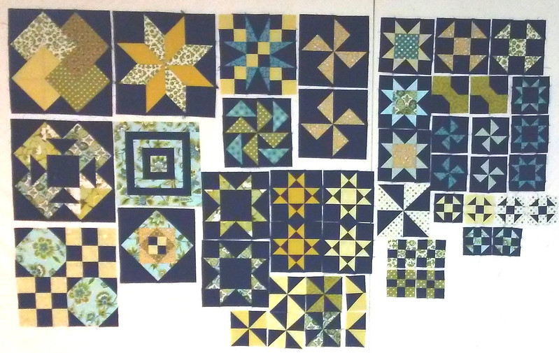 Test Your Skills Sampler Blocks by Sandi Wslton at Piecemeal Quilts