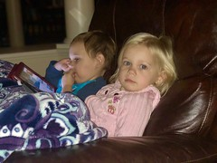 Madeleine and Sawyer sitting together happily last night