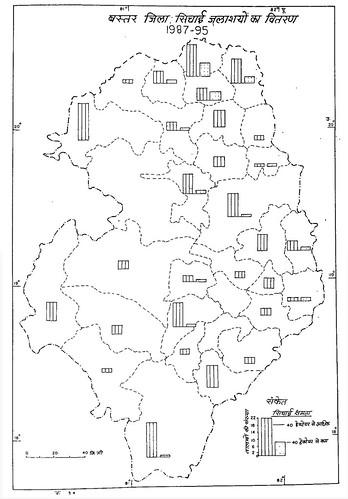 बस्तर जिला सिंचाई जलाशयों का वितरण