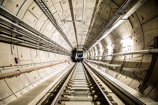 TfL image - Elizabeth line train driven into tunnel