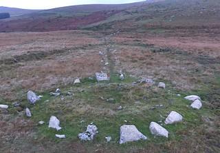 Hart Tor, North stone row