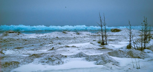 When The Ice Comes Marching In:  Lake Michigan