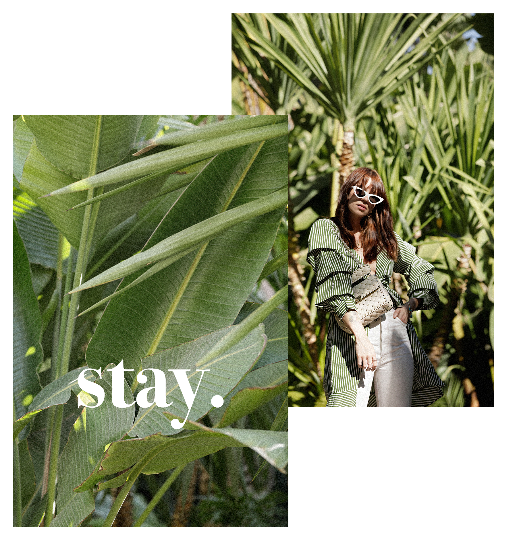 selman marrakech jungle palm tree banana leaves green dress vila breuninger maison valentino hermès oran adam selman x le specs sunglasses last lolita dress as top stripes green max bechmann fotografie film düsseldorf ricarda schernus catsanddogsblog 2