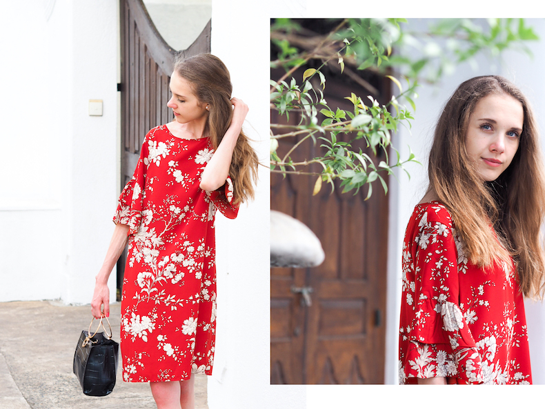 red-floral-dress-with-ruffles
