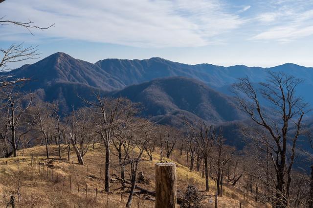 蛭ヶ岳から塔ノ岳の稜線