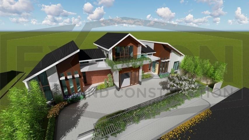 Proyek Rumah Minimalis Modern Bapak Rafa - Depok 5 EXACON, Jasa Desain Arsitektur Rumah Minimalis di Bogor